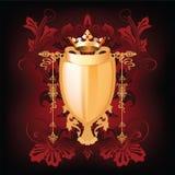 blom- heraldiksköld för element Arkivfoton