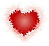 blom- hjärta Fotografering för Bildbyråer
