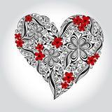 blom- hjärta Royaltyfri Bild