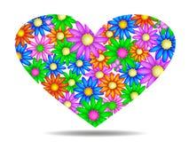 blom- hjärta Royaltyfria Bilder