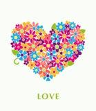 blom- hjärta Arkivbilder