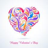 Blom- hjärta vektor illustrationer