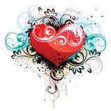 blom- hjärta för bakgrund Royaltyfri Fotografi