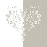 Blom- hjärtabakgrund Royaltyfri Foto