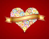 blom- hjärtaband Arkivbilder