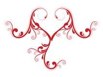 blom- hjärtaförälskelse för idérik design Royaltyfri Bild