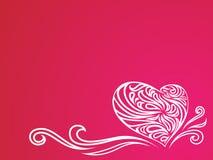 blom- hjärtaillustration royaltyfri illustrationer