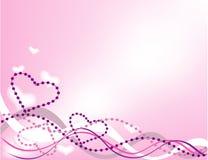 blom- hjärtavektor för bakgrund Fotografering för Bildbyråer