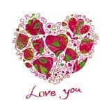 Blom- hjärtor Vektor Illustrationer