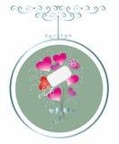 blom- hjärtor för abstrakt bukett Royaltyfri Fotografi