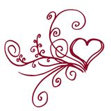 blom- hjärta Royaltyfri Fotografi