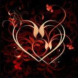 blom- hjärta för bakgrund Royaltyfri Foto