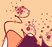 blom- illustration för abstraktion Royaltyfria Bilder