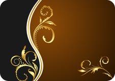 blom- illustration för affärskortdesign stock illustrationer
