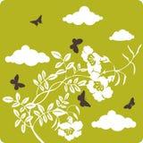 blom- illustration för bakgrund Royaltyfri Bild