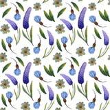 Blom- illustration för vattenfärg vektor illustrationer