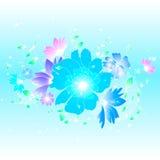 Blom- illustrationbakgrund Arkivfoto