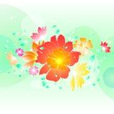 Blom- illustrationbakgrund Royaltyfria Foton
