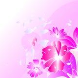 Blom- illustrationbakgrund Royaltyfri Bild