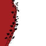 blom- illustrationsilhuette Arkivfoto