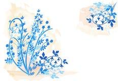 blom- illustrationvektor för bakgrund Arkivbild
