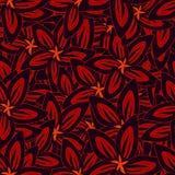 blom- illustrationvektor för bakgrunder Sömlösa modeller för textil och tapeter Arkivfoton