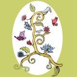 Blom- inbjudankort Royaltyfria Foton