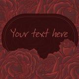 Blom- inbjudankort blå blom- hälsning för kortdesign Arkivbild