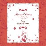 Blom- inbjudankort för härlig tappning Royaltyfri Fotografi