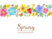Blom- isolerad banerdesign för vår Arkivfoto
