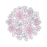 Blom- isolerad sammansättning för rosett vektor stock illustrationer
