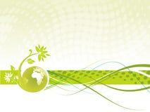 blom- jordklot vektor illustrationer