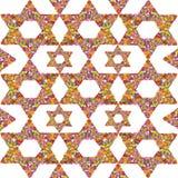 Blom- judisk bakgrund Royaltyfri Foto