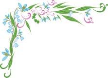 blom- kant Stock Illustrationer