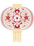 Blom- kinesisk lykta royaltyfri illustrationer