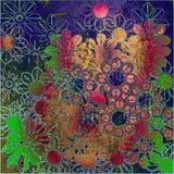 blom- konstbakgrund Royaltyfri Fotografi