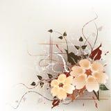 blom- konstnärlig bakgrund Arkivbild