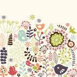 Blom- kort vektor illustrationer