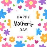 Blom- kort för lycklig för moder` s vektor för dag Royaltyfri Foto