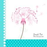 Blom- kort för maskrosvektorhälsning Royaltyfri Fotografi