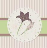 Blom- kort för tappning royaltyfri illustrationer