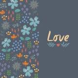 Blom- kort med hjärta Royaltyfria Foton