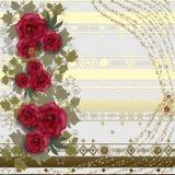Blom- kort med rosor Royaltyfria Bilder