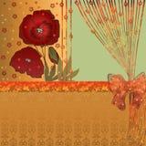 Blom- kort med vallmo Arkivbilder