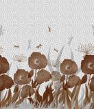 Blom- kort med vallmo Royaltyfria Foton