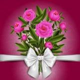 Blom- kortmall Fotografering för Bildbyråer