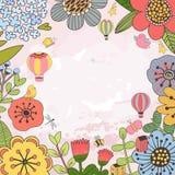 Blom- kortmall arkivfoton