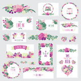 Blom- kortuppsättning Royaltyfria Bilder