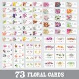 Blom- kortuppsättning Arkivfoto