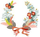 blom- kran royaltyfri illustrationer